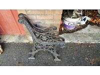 VERY OLD WROUGHT IRON FANCY BENCH ENDS, NOT CHEAP FAKES