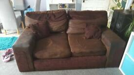 DFS Brown two seater sofa.