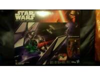 Star Wars Hasbro..New, 1st order Tie Fighter & pilot. Perfect gift for christmas. See both images