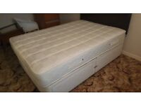 Bed base, mattress and headboard, only used a few times