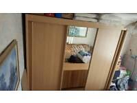 3 door solid wood wardrobe