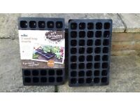 6 Plastic Seed Tray Inserts