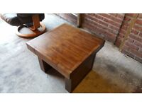 Very Sturdy wooden coffee table, side tables and cabinet all in very good condition. 👍