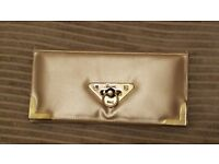 Gold clutch bag from new