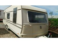Touring caravan, twin axle, Tabbert Comtesse, 2003 model 5 berth but can accomodate 7 if bed sharing