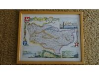 Framed Picture of the County of Kent