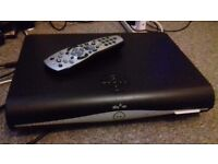 Sky Hd box with remote control & power cable