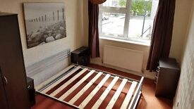 Bed Frame Metal with Wood Slats