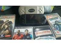 Psp console and 4 games