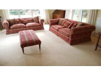 Two Duresta Maximus Sofas, One Armchair & Footstool, Luxor Fabric