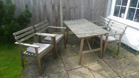 IKEA Garden furniture set with 4 cushions
