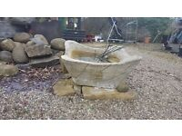 Large Simulated Stone Trough/Planter