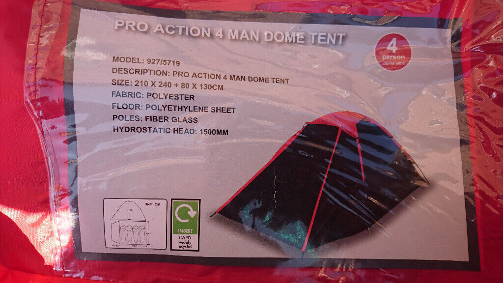 Pro Action 4 man dome tent, Festival tent | in Sale, Manchester | Gumtree