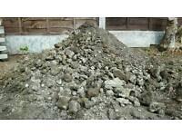 Rubble / hardcore / sand cement approx 0.8 tonnes