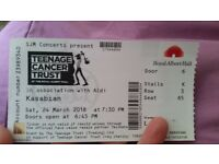 Kasabian - Royal Albert Hall Saturday 24th of March!!!!