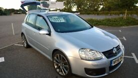 VOLKSWAGEN GOLF GT TDI 2.0L DIESEL SILVER 5DR 2006/2007 ONLY 47K MILES! GREAT CONDITION! ONLY £3700!