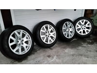 Four Land Rover Alloy Wheels & Tyres