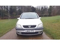 VAUXHALL ZAFIRA ELEGANCE AUTOMATIC,LOW MILEAGE, A/C, LONG MOT, FOG LAMP,7 SEATER,RECENTLY SERVICED
