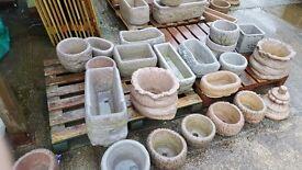 Concrete cement planters