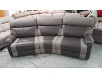 SCS Ralph Grey 4 Seater Curved Electric Recliner Sofa FREE DELIVERY DERBY NOTTM View Collect Welcome