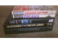FIVE hardback books on the unexplained and similar ALL for