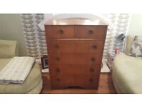 Vintage Retro Chest of Drawers Dresser Sideboard 6 Drawer Chest