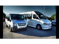 mini bus for hire,with driver, available for airports, ports, day trips, and schools