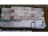 mosaic White Tumbled Travertine