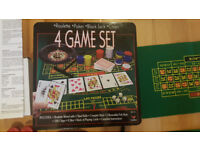 4 GAME SET : Roulette, Poker, Black Jack , Craps