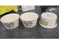 3 X POOLE POTTERY COUNTRY LANE SML SOUFFLE DISHES