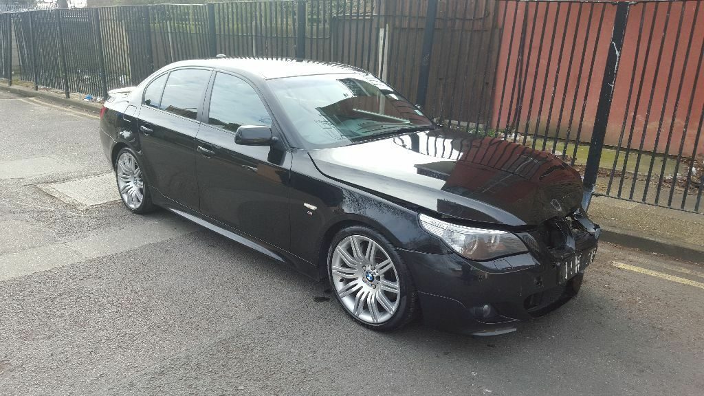 2006 bmw 535d m sport automatic black e60 unrecorded damaged salvage repairable in leyton. Black Bedroom Furniture Sets. Home Design Ideas