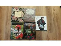 5 Books Knitting Needlework Embroidery In Good Condition