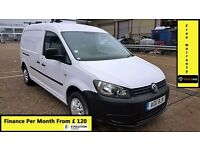Finance-£120 P/M,VW Volkswagen Caddy Maxi C20 1.6 TDI Lwb Van-Air Con-1 Owner-69K MIles-FSH- 1YR MOT