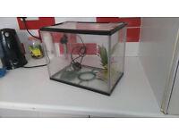 Fish Tank Aquarium With Heater, etc