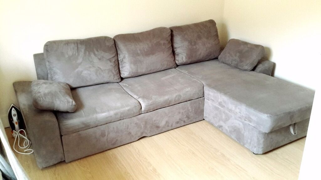 Corner Sofa Bedin Sheffield, South YorkshireGumtree - Corner Sofa Bed with storage. Very comfortable! Extra yellow covers for pillows. Sofa can be pyt on either side it is adjustable. Very good condition