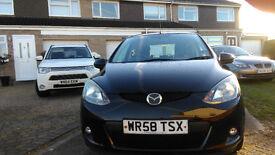 Mazda 2, 08 plate, 1.3 petrol, black 3 door