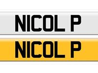 Cheap N70 OLP NICOLA Nicky Nikki private registration plate number cherished personalised personal