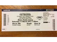 2 x The Weeknd Metro Radio Arena tickets 11 Mar 2017
