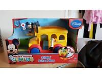 Mickey mouse sliding school bus