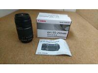 Canon EFS55-250mm lens