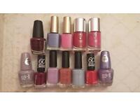 Collection of assorted nail polish colours