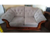 3 piece suite, 2 seater + 2 chairs possibly Yeoman, well made good quality