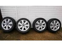 Audi genuine alloys 17inch 5x112 with tyres
