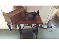 Antique Singer sewing machine & stand