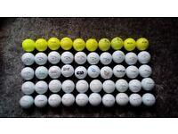 50 top quality golf balls