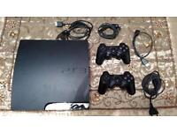 PS3 Slim / 320 G + Games + 2 Consoles + All Cables