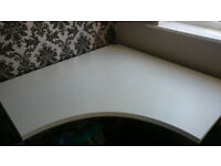 Ikea corner desk / Table white and chrome 120 x 120