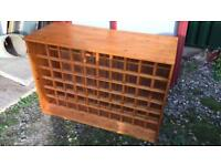 Large wooden wine rack - solid pine chest