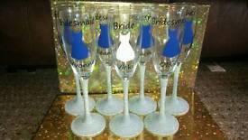 Wedding glitter glasses