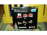 Santa/Christmas train silhouette lights